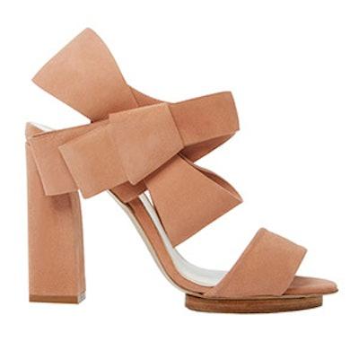 Bow Sandal With High Heel