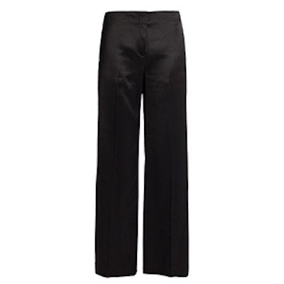 Satin Wide-Leg Trousers