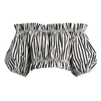 Striped Cotton Crop Top