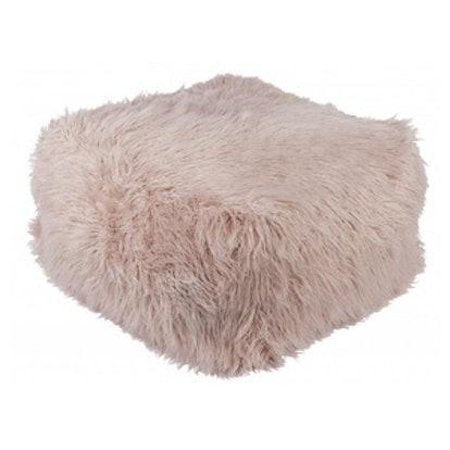 Lulu & Georgia Darla Faux Fur Pouf in Blush