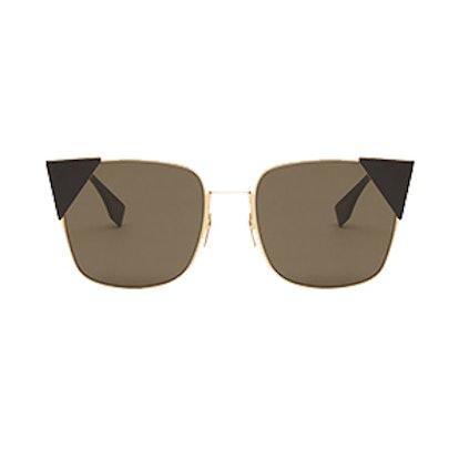 Lei Pink Gold Metal Sunglasses
