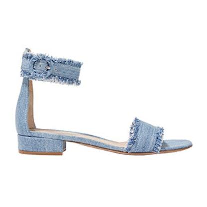 Portofino Frayed Denim Sandals