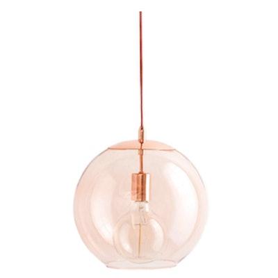 Emelle Glass Globe Pendant Light