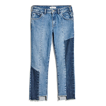 Patch Relaxed Straight Jeans