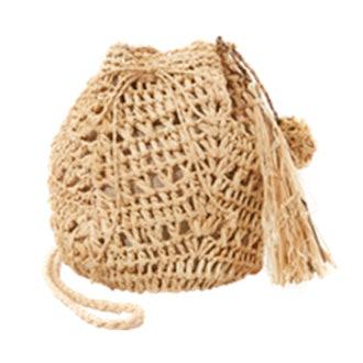 Raffia Pouchette Bag
