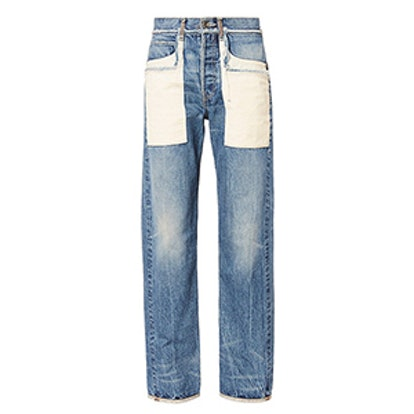 Patch Pocket Boyfriend Jeans