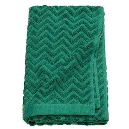 Jacquard-Patterned Bath Towel