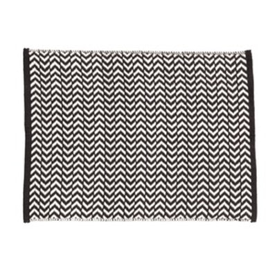 Jacquard-Weave Bath Mat