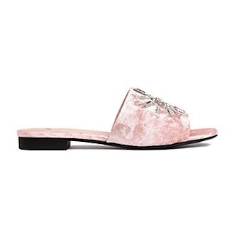 Velvet Slip-In Sandals