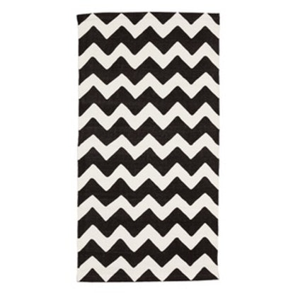 Zigzag-Print Cotton Rug