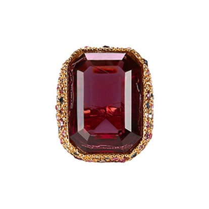 Red Crystal Cocktail Ring