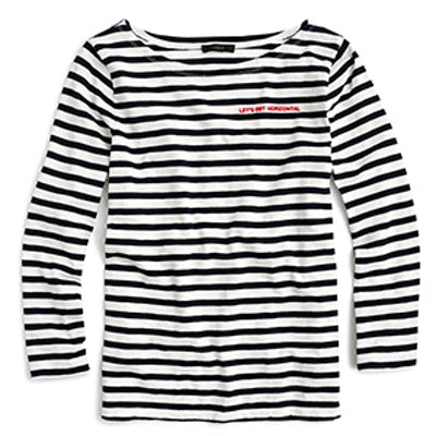 """Limited-Edition National Stripes Day T-shirt In """"Let's Get Horizontal"""""""