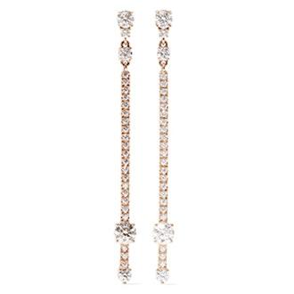 18-Karat Rose Gold Diamond Earrings
