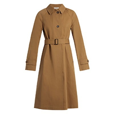 Croquet Single-Breasted Cotton Trench Coat