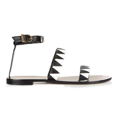 Zigzag Leather Sandals