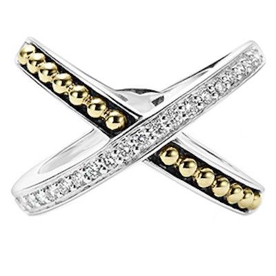Infinity Diamond X Ring