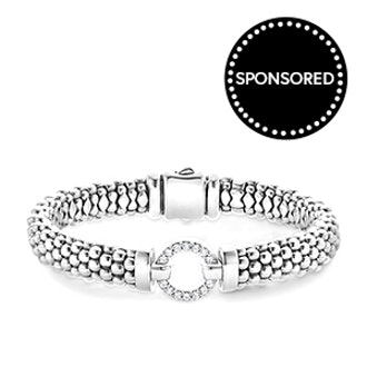Enso Caviar Beaded Diamond Bracelet