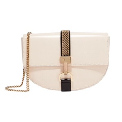 Lien Chain-Trimmed Leather Shoulder Bag
