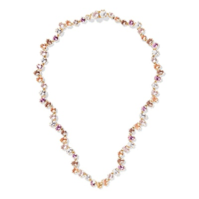 Caterina Garland Rivière Gold-Dipped Quartz Necklace
