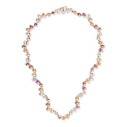 Caterina Garland Rivière Gold-Dipped Quartz Necklace