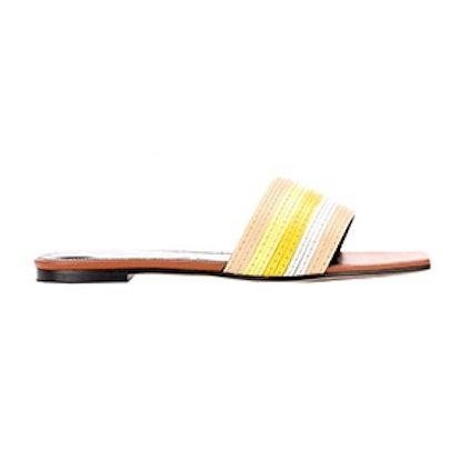 Slip-On Leather Sandals