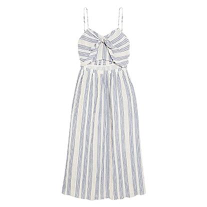Jenna Striped Cutout Cotton-Blend Dress