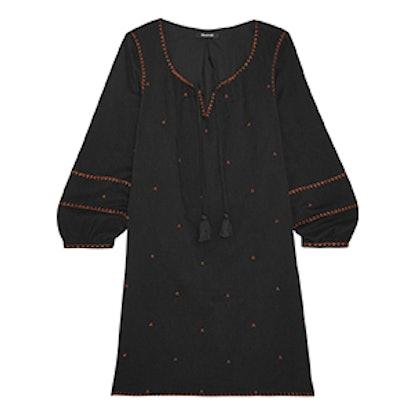 Kristen Metallic Embroidered Woven Mini Dress