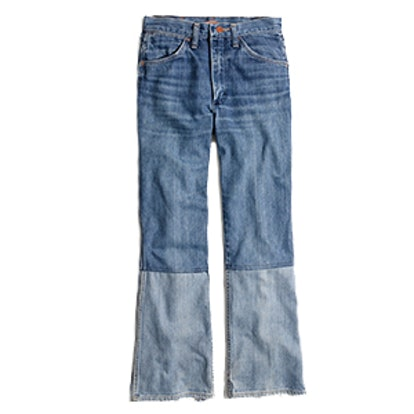 Reworked Vintage Jeans: Two-Tone Edition