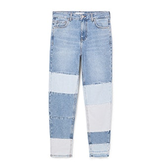 Block Color Straight Jeans