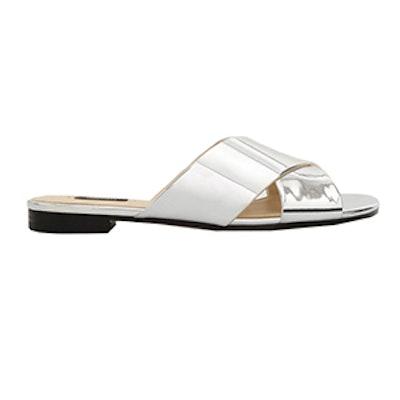 Metallic Strap Sandals