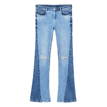 Flared Twotones Jeans