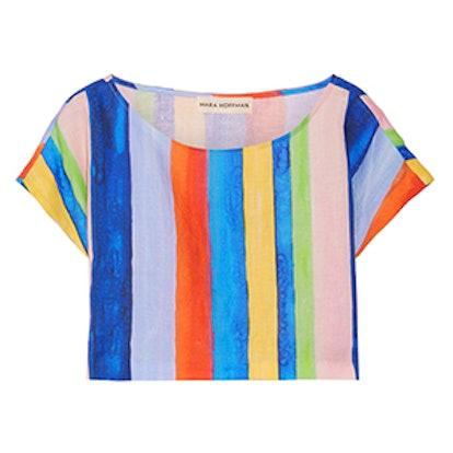 Mara Hoffman Striped Organic Linen Top