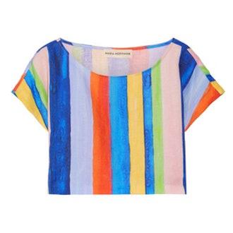 Striped Organic Linen Top
