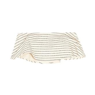 Striped Basketweave Cotton-Blend Bandeau Top