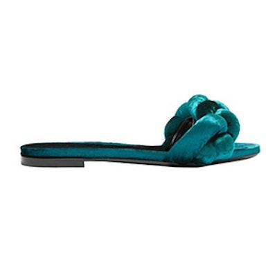 Braided Velvet Slides