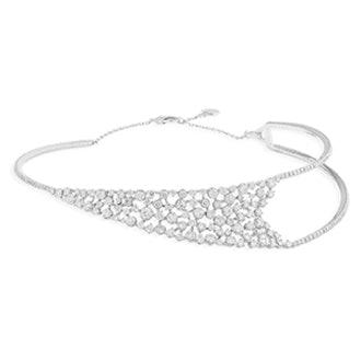 Ipsilo White Gold And Diamond Slip-On Collar