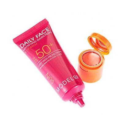 Daily Face Mattifying Sunscreen + Lip Balm SPF 50