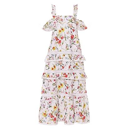 Cold Shoulder Tiered Maxi Dress