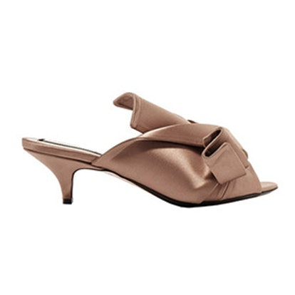 Knotted Satin Mules