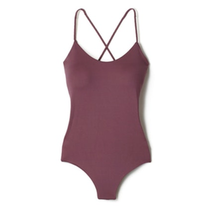 One-Piece X-Back Tank in Tea Rose