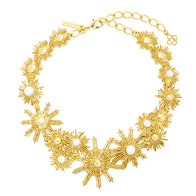 Gold-Tone And Faux Pearl Necklace