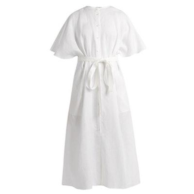 Button-Through Midi Dress