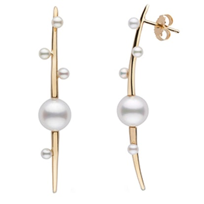 Petite Crescentic Earrings In 14k Yellow Gold