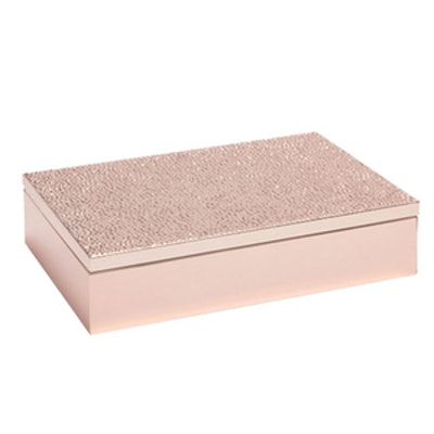 Pink Metallic Box With Raised Dots