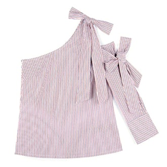 Taki One Shoulder Bow Shirt