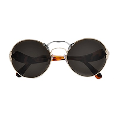 Round-Frame Acetate And Metal Sunglasses