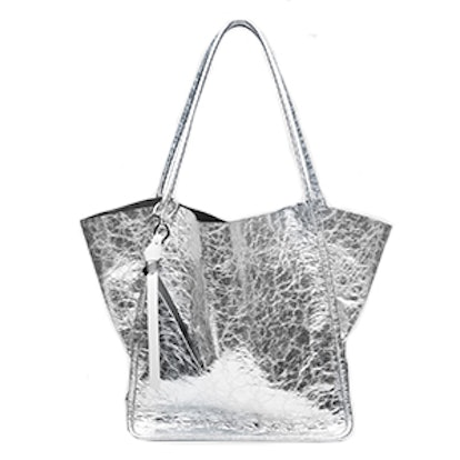 Extra Large Tote In Silver