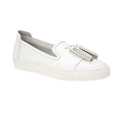 Bern Tassel Leather Slip-On Sneakers
