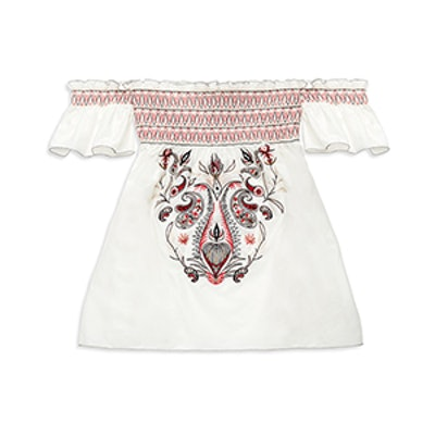 Carey Embroidered Off The Shoulder Top