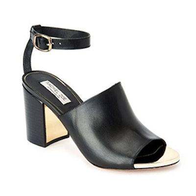 Grechen Leather Block-Heel Sandals
